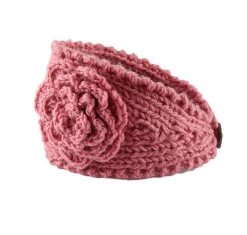 072b635cb8a Pletená čelenka na zimu ružová - jupitershop.sk