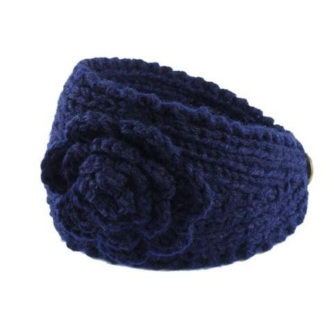 Pletená čelenka na zimu modrá - jupitershop.sk 4bafa40cd4