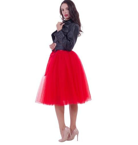 ce101ae15d2c Dámska tylová tutu sukňa červená - jupitershop.sk