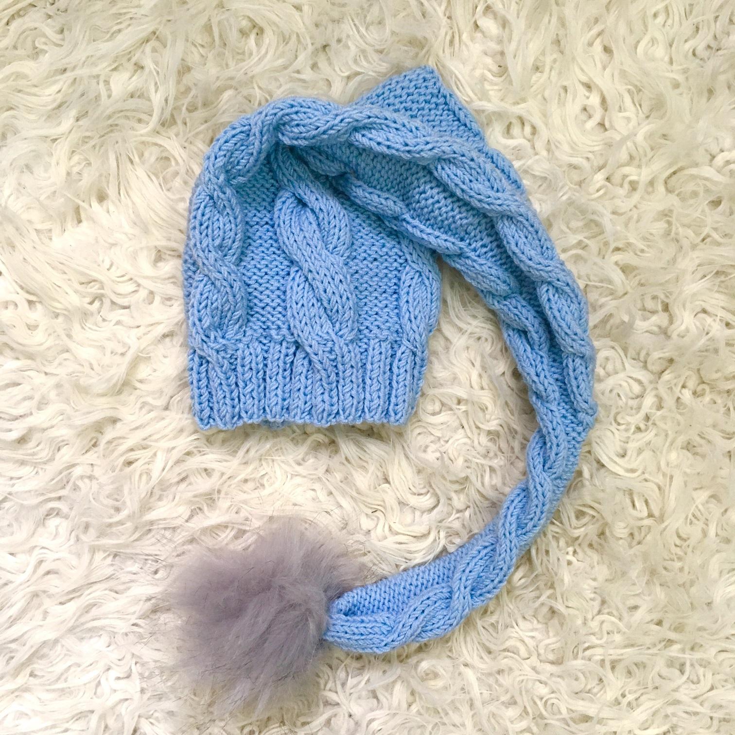 1e1d85c92bb2 Detská čiapka s brmbolcom pre bábätko modrá - jupitershop.sk