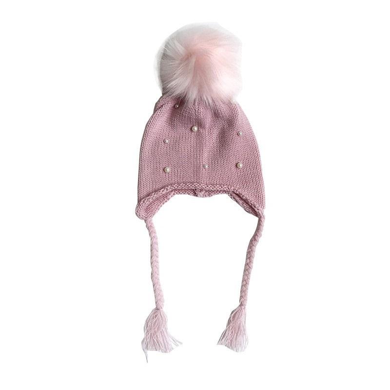 e34c243ac Pletená detská čiapka na viazanie ružová 3-12 mesiacov