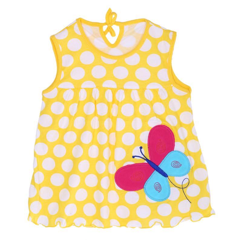 72e6efd1ede7 Detské bavlnené šaty žlté