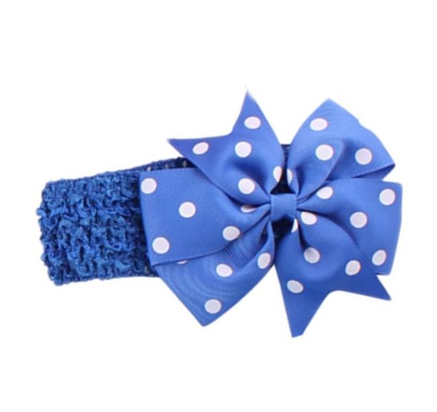 fe8b932ab1fe Kráľovská modrá čelenka pre dievčatko s mašľou - jupitershop.sk