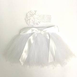 c1c4a7dd3365 Tutu suknička pre bábätko biela (0-2 mesiace) empty